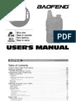 Baofeng Bf t1 Users Manual