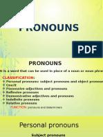Presentación1 Pronouns