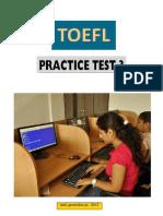 - ToEFL Practice Test 3