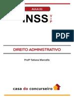 Aula Em PDF 1 Inss Vip Direito Administrativo Tatiana Marcello