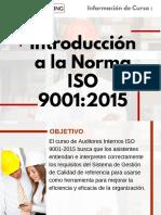 Curso Introducción a la Norma ISO 9001:2015