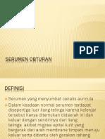 SERUMEN OBTURANS