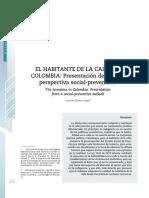 El Habitante de La Calle en Colombia Presentación Desde Una Perspectiva Social-preventiva