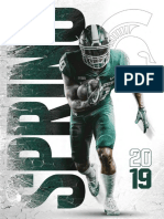 Michigan State football's spring media guide