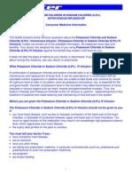 Potassium Chloride in Sodium Chloride