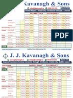 JJ Kavanagh & Sons Limerick to Dublin Bus Timetable