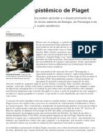O Sujeito Epistêmico de Piaget - O Desenvolvimento Da Inteligência