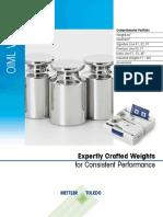 Specifiche Pesi OIML Weights LR 11 2015