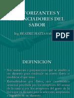 Aromatizantes y Potenciadores Del Sabor