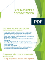 Los Diez Pasos de La Sistematización
