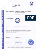 Trina Tsm Pc05 Certificado Tuv Sud Iec61215 61730 En