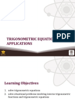 (20) Trigonometric Equations and Applications