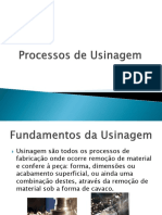Processos de usinagem