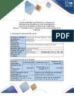 Guía de actividades y rúbrica de evaluación - Tarea 2 - Cuantificación y relación en la composición de la materia.docx