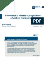 TSI Aviation management - masters degree introduction