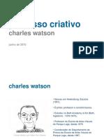 PROCESSO CRIATIVO Charles Watson