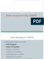 Path Analysis Using AMOS