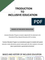 Inclusive Education Presentation