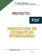 Proyecto Producción de Jitomate en Invernadero