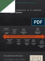 2.0.- Pensamiento y Arquitectura en La Antigüedad Romana Marco Vitruvio