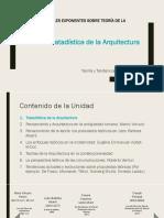 1.0.- Tratadístas de La Arquitectura