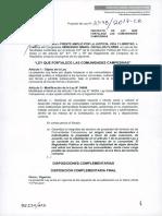 PL 2478 Ley que fortalece a las comunidades campesinas