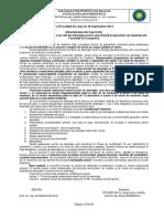 Procedura Elaborare Lucrare de Disertatie 2014