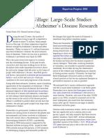 Large-Scale Studies Alzheimer's disease
