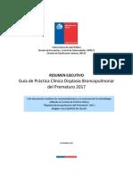 RE GPC Displasia Broncopulmonar Del Prematuro 2017