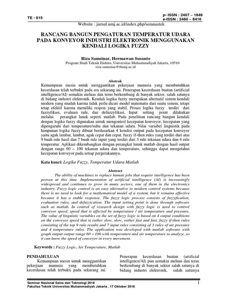 jurnal fuzzy logic controller pada alat elektronik