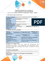 Guía de Actividades y Rúbrica de Evaluación - Fase 3 - Diseño