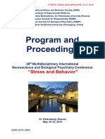 "Program and Proceedings - 26th International ""STRESS AND BEHAVIOR"" Neuroscience and Biopsychiatry Conference, St-Petersburg, Russia, May 16-19, 2019"