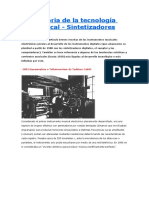 Historia de Los Sintetizadores