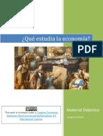 Que Estudia La Economia Material Didact