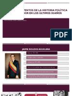 PRINCIPALES EVENTOS DE LA HISTORIA POLÍTICA DEL ECUADOR.pptx