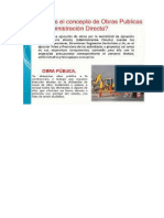 Concepto de Obras Publicas Por Administracion Directa