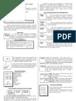 Funções do teclado