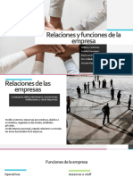 Relaciones y Funciones de La Empresa