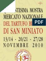 Programma 2010 Mostra del Tartufo Bianco di San Miniato