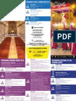 Programa Semana Santa Zipaquira 2019
