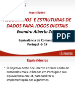 Equivalencia Portugol CSharp
