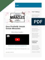 Doa Profetik Untuk Great Miracles