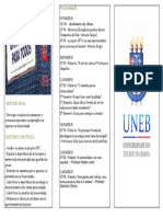 Folder Palestras Nelson Mandela