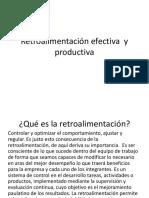 Retroalimentación Efectiva y Productiva