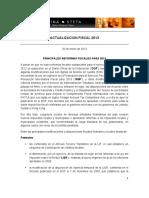 Reporte de la reforma fiscal 2013