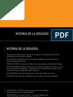 Historia de La Geología
