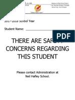 cume safety concern notice
