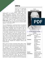 Jawaharla Nehru