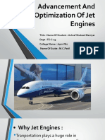 Advancement and Optimization of Jet Engines