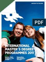 International Masters Degree Programmes